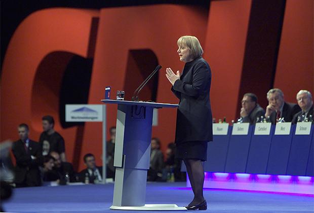 Ангела Меркель на съезде Христианско-демократического союза (ХДС) в Дрездене