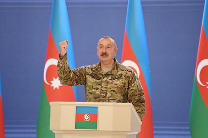 Алиев обратился к народу в годовщину начала 44-дневной войны в Нагорном Карабахе