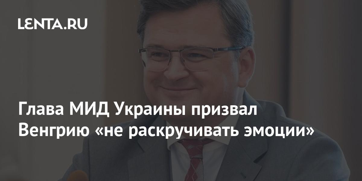 Глава МИД Украины призвал Венгрию «не раскручивать эмоции»