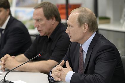 Сергей Ролдугин и Владимир Путин