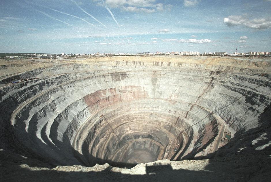 Алмазоносная кимберлитовая трубка «Мир»
