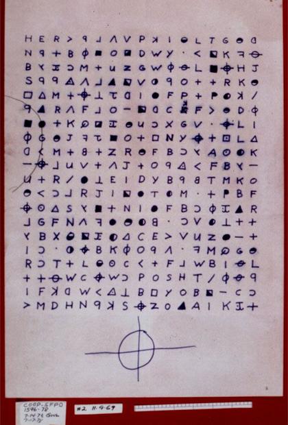 Письмо Зодиака, расшифрованное в 2020 году