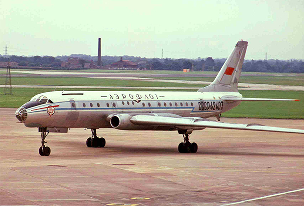 Ту-104Б, аналогичный разбившемуся рядом с аэропортом Внуково