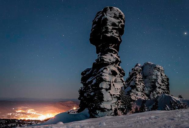 Виды горнолыжного курорта Шерегеш — скала «Верблюд»