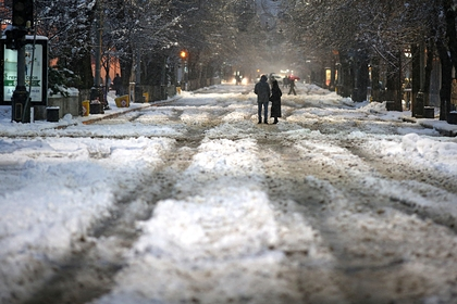 Москвичей предупредили о мокром снеге