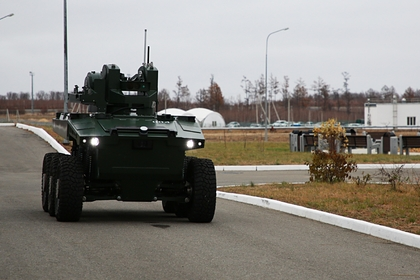 В России испытали группу «смертоносных» автономных ударных роботов «Маркер»