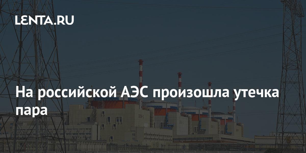 На российской АЭС произошла утечка пара - Lenta.ru