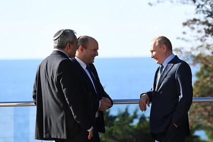 Раскрыты темы переговоров премьера Израиля с Путиным